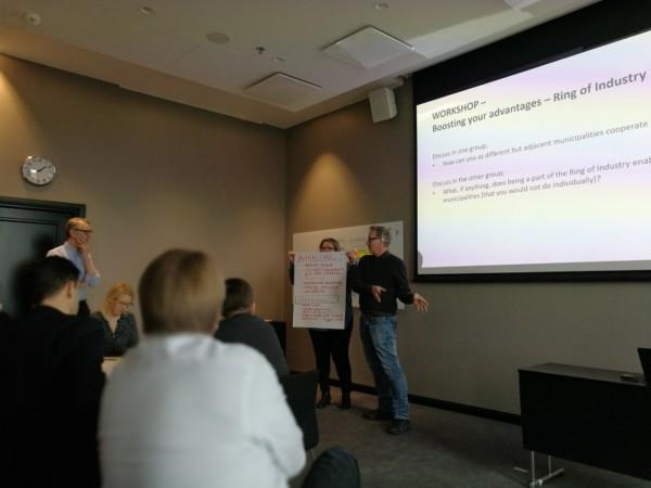 Municipalities from the Helsinki Ring of Industry attended a workshop of business attraction management.
