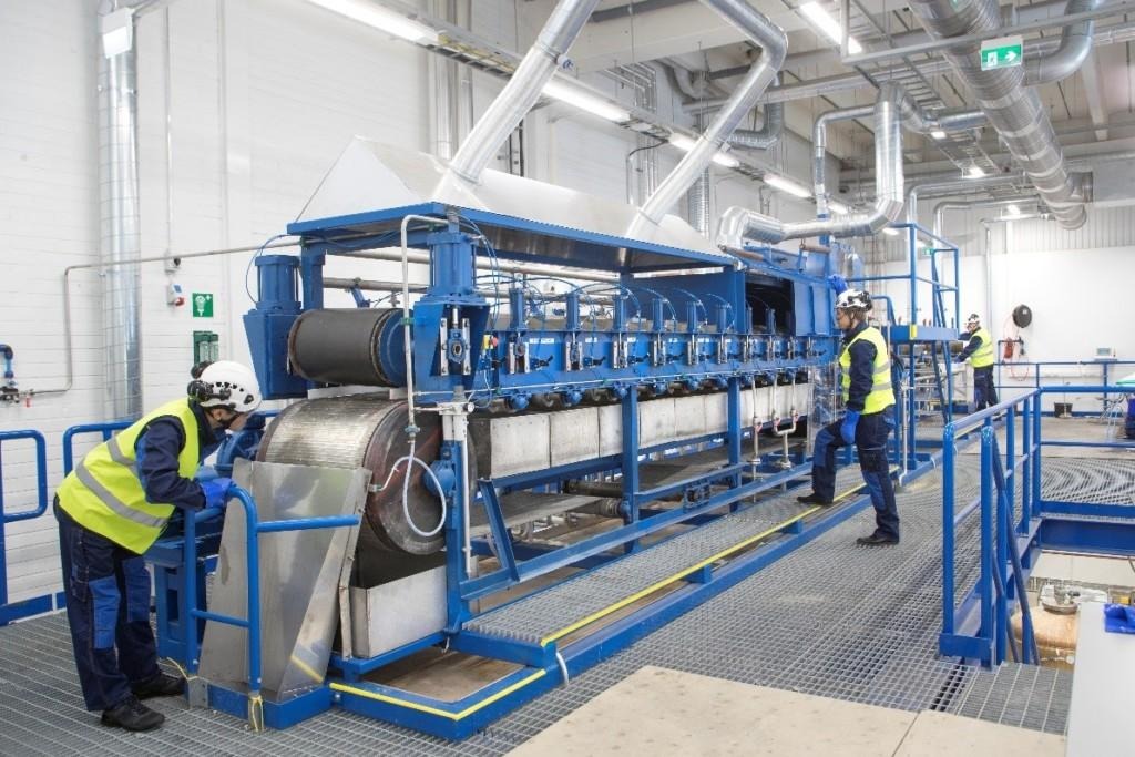 VTT's pilot wet-spinning machine in Espoo, Helsinki-Uusimaa Region