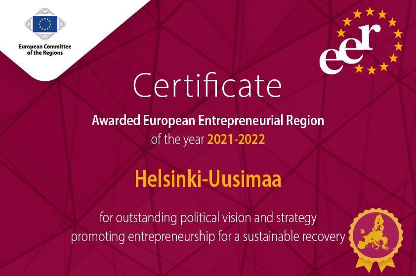 EER Certificate